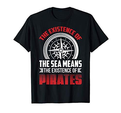 Disfraz de Pirata Cita de Pirata Existence Camiseta