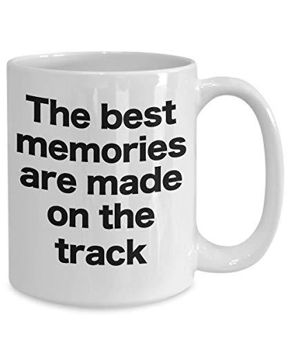 Track Coach Mok witte koffie Cup geschenk voor spoor en veld Dirt Bike Paard Drag Strip Race Car Racing