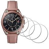 iDaPro - Pellicola protettiva per Samsung Galaxy Watch 3 41 mm, in vetro temperato, antigraffio, senza bolle, facile da installare