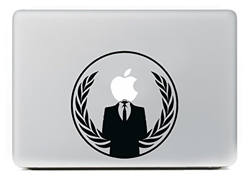Vati Bladeren Verwijderbaar Een man in een pak Vinyl Sticker Skin Art Zwart voor Apple Macbook Pro Air Mac 13
