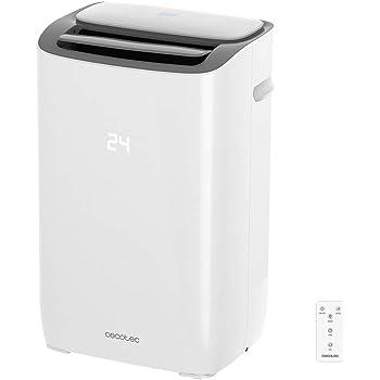 Cecotec Aire Acondicionado Portatil EnergySilence Clima 7150 Smart. 1800 Frigoras, 3 Funciones(Fro, Ventilador, Deshumidificador), Caudal 350 m_/h, Programable 24h, Mando a Distancia: Amazon.es: Hogar