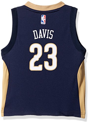 NBA New Orleans Pelicans Toddler Outerstuff Replica Road Player Jersey, Anthony Davis, 4T