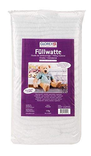 Glorex GmbH 0 2524 Füllwatte, 1 kg, weiß