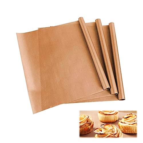 opamoo Premium Backpapier, 3 Stück Dauerbackfolie Backpapier Wiederverwendbar zuschneidbar Backpapier aus Glasfaser Backmatte Antihaft Handwerk waschbares Papier für Backofen, spülmaschinenfest