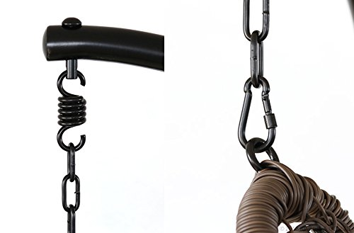 ハンギングチェアティアーブラウン&ホワイト幅102×奥行102×高さ195cm耐荷重120kgC501PBRW