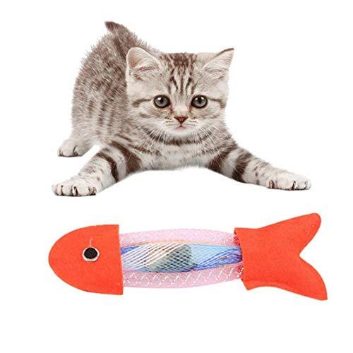 OUTANG Katzenspielzeug Beschäftigung Fisch Katzenspielzeug Plüsch Katzenspielzeug...