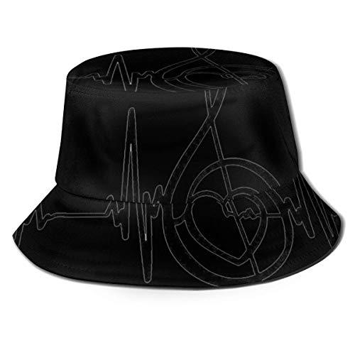Lawenp Faith Love Hope Bucket Hat Unisex Packable Summer Travel Bucket Boonie Sun Hat Outdoor Fisherman Cap Black