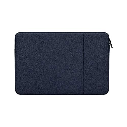 Laptop Sleeve Case Compatible with 13 -13.3 Inch MacBook Air and MacBook Pro, Compatible for 13' Notebook Tablet iPad Tab, Waterproof Shock Resistant Computer Bag Case with Accessory Pocket, Blue