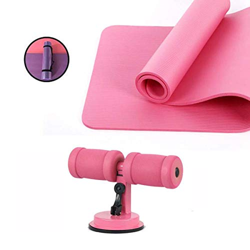 3-Delige Yoga Equipment Set, Sit-Up Aids, Yoga Mat, Verband, Voor Pilates, Grondoefeningen Sit-Up Ab Oefeningen,Pink