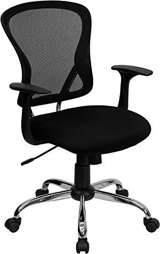 Flash Furniture Mid-Back Black Mesh Swivel Task...