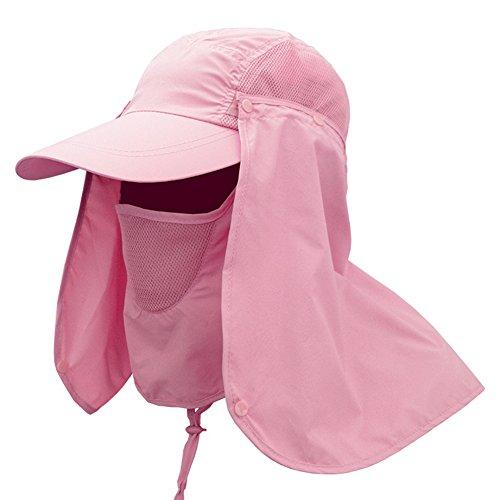 lzn 360° Sonnenhut Sonnenschutz Fischerhut Hut Mütze mit Extra Langem Nackenschutz,die Schnell trocknenden