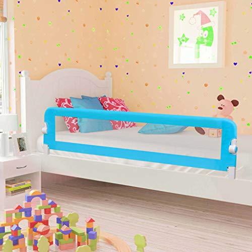 Barriera per Letto da Bambini, Barriera di Sicurezza Universale Sponda di Sicurezza Portatile Protezione Removibile per Letto, Installazione Facile, Protezione di Caduta (180cm, blu)