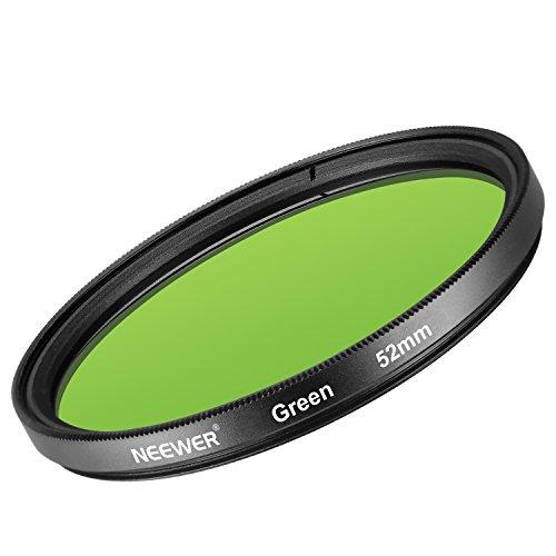 Neewer 52mm Filtro de Lente Verde para Nikon D3300 D3200 D3100 D3000 D5300 D5200 D5100 D5000 D7000 D7100 Cámara Réflex Digital, de Vidrio Optico de Alta Definición y Marco de Aleación de Aluminio