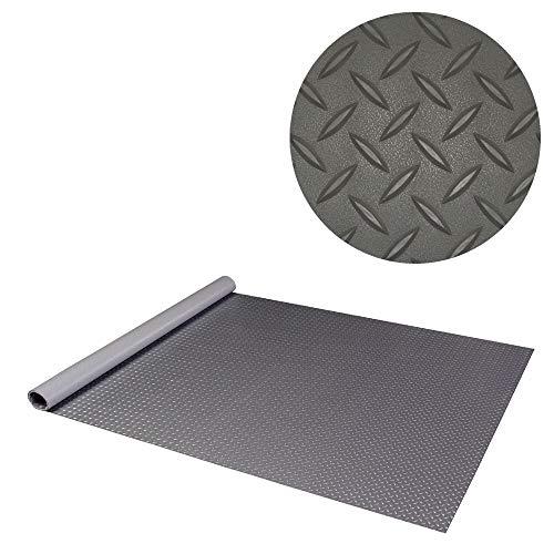RoughTex 86100 Diamond Deck Charcoal 1 Car Garage Mat Kit with (2ea) 5' x 24' Mats (Various Options Available)