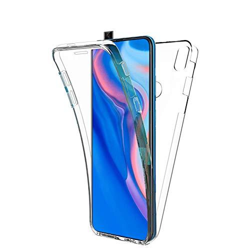 COPHONE - Funda para Huawei P Smart Z 100%Transparente 360 Grados Protección Completa Delantera Suave de silicona+ Trasera rígida. Funda táctil 360 Grados antigolpes para Huawei P Smart Z
