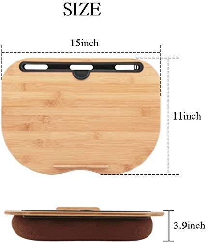 VLOXO Tragbare Laptopkissen Knietablett Kissen mit Anti-Rutsch Streifen inkl. Tablet-Ständer bis zu 14 Zoll für Notebook MacBook Tablet MEHRWEG