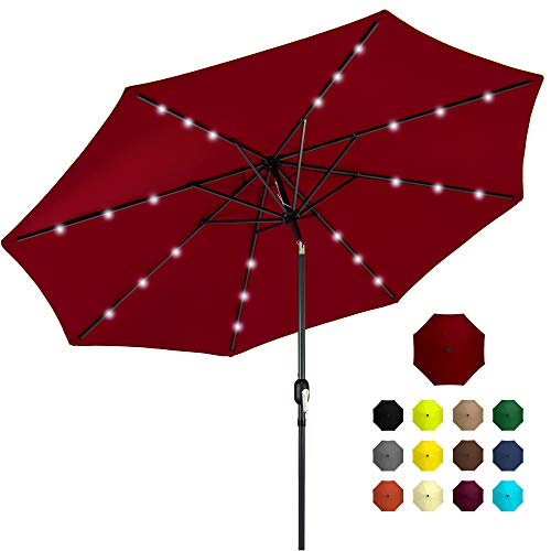 Best Choice Products 10ft Solar Powered Aluminum Polyester LED Lighted...