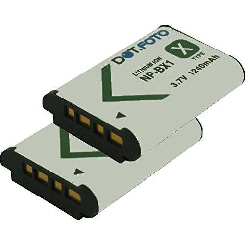 2 x Sony NP-BX1 PREMIUM Dot.Foto Batería de Reemplazo - 3.7V/1240mAh - Garantía de 2 años [Vea compatibilidad en la descripción]