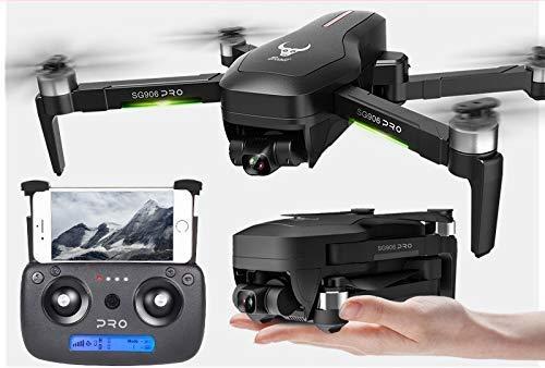 SuRose Drone, Drone con GPS 4K 5G WiFi 2 Ejes Gimbal Cámara Dual Professional ESC 50X Zoom sin escobillas Quadcopter RC Dron (Color: 2 Ejes con Box 3B)