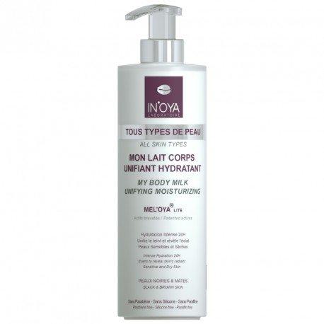 Mon Lait Corps Unifiant Hydratant MEL'OYA - Peaux noires et mates – Lait Corps pour peau sèche – Crème pour le corps hydratant et nourrissant – 400 ML