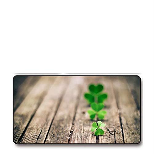 Lbonb Klee Pflanze Mauspad Schloss Rand Kreative Große Verdickung Spiel Tastatur Tischset700 * 300Mm