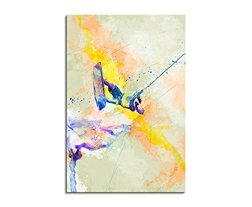 Wakeboard 90x60cm Wandbild SPORTBILD Aquarell Art tolle Farben von Paul Sinus