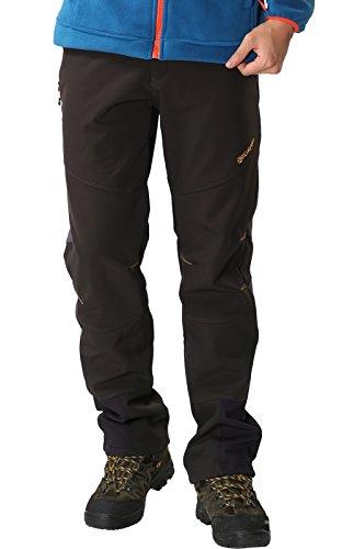 Pantalones de Montaña Hombre Pantalon Impermeable Trekking Invierno Transpirable Softshell Pantalón de Senderismo, Negro 1, Gr. EU-L/Asia-2XL