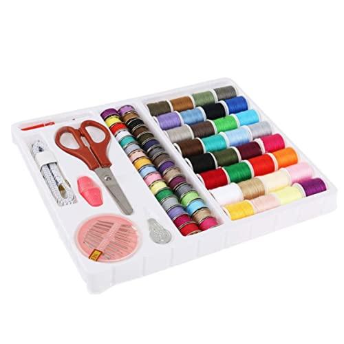 LIXSLT Kit de costura Herramientas 100-en-1 Suministros de máquina de coser Caja de costura profesional Kit de costura de viaje DIY Accesorios de artesanía