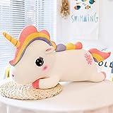 FGRSD Kawaii Felpa arcoíris Unicornio Juguete Relleno Unicornio sofá Almohada de Felpa cojín niños Juguete decoración del hogar Regalo de niña 60cm A