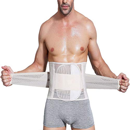 YCKZZR Männer Rückenstützgürtel zur Haltungskorrektur Gürtel,Rückenstabilisator, Lendenwirbelstütze und Rückenbandage,Arbeit Sport Freizeit,Flesh,XXL