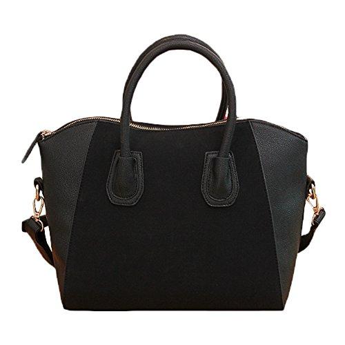 I9Q PU Pelle Donna Retrò Elegante borsa a tracolla della cartella Frosted Fashion Bags