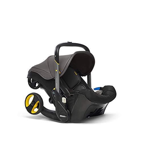 Doona+ 0+ Kindersitz - Die erste Babyschale mit integriertem Fahrgestell: Von Autositz zum Buggy in Sekundenschnelle - bis zu 13 kg - Grey Hound/grau