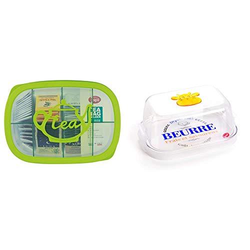 Snips TE BOX Contenitore per tè e tisane in busta da 3 lt Verde & Burriera Farm Contenitore Porta Burro Per Frigorifero 0,5 Lt