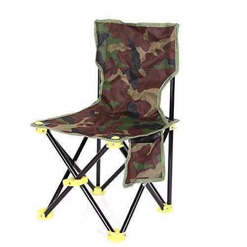 Silla de Camping Plegable portátil, Hecha de Lona, es Resistente y Duradera,...