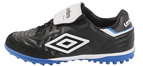 Umbro Speciali Eternal Team TF, Botas de fútbol Unisex Adulto, Negro (Black/White/Electric Blue Bs0), 41.5 EU