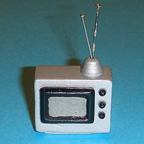 Miniatures World - Houten televisietoestel voor miniatuurdecors en poppenhuizen in schaal 1:12