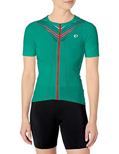 PEARL IZUMI Women's W Select Pursuit Short Sleeve Jersey, Atlantis Whirl, Medium