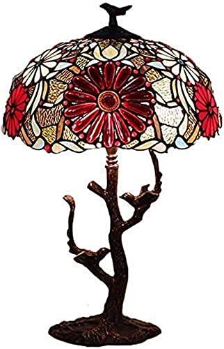 Tiffany Style Lámparas de mesa de 16 pulgadas CHRYSANTHEMO CHRYSANTHEMUM SHUTED METAL BASE VINTA DE MUCHA TIENDA LIGHT DESPUÉS DE LA TIENDA Lámpara de la mesa de la sala de matrimonio Decoración de la