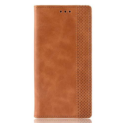 NEINEI Folio Leder Hülle für Samsung Galaxy A32 4G,Premium Flip Wallet Schutzhülle Tasche Hülle mit [Kartensteckplätzen] [Standfunktion] [Magnetverschluss],Retro Stil Handyhülle,Braun