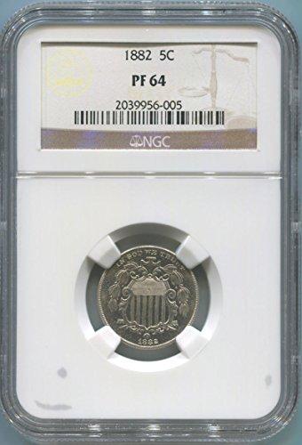 1882 P Shield Nickel Nickel PR64 NGC