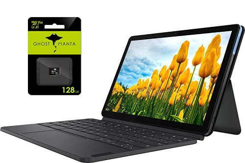 """Newest Lenovo Chromebook Duet 10.1"""" Tablet Laptop Business and Student, 8-core MediaTek Helio P60T,4GB DDR4X RAM, 128GB eMCP SSD, Keyboard, ARM G72 MP3, Chrome OS, w/Ghost Manta 128GB SD Card"""
