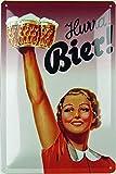 Generisch Cartel de chapa de 20 x 30 cm, curvado, estilo retro de Hurra, cerveza, regalo, imán de...