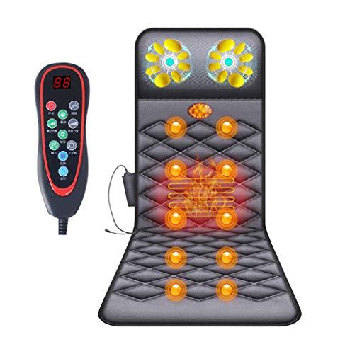 Esterilla de masaje eléctrica, cuerpo entero, 9 programas, función de calentamiento, tumbona...