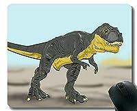 注文の元のヒョウシリーズマウスパッド、ステッチされた端が付いている巨大な恐竜ティラノサウルスのマウスパッド