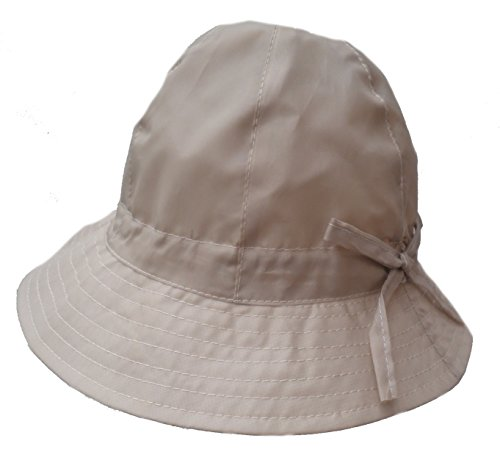 Damen Hut Regenhut Wetterhut Damenmützen Regenhüte Kofferhut (59, Beige)