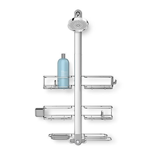 simplehuman Adjustable XL, Stainless Steel + Anodized Aluminum Shower Caddy