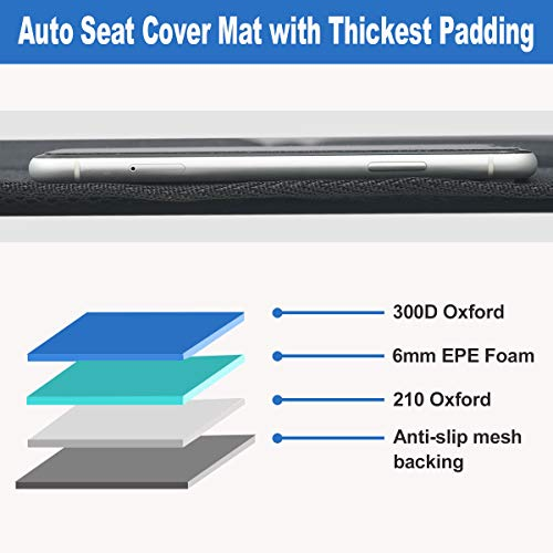 INFANZIA Car Seat Protector with Upgrade Size -Thick Padding Protection for Child Cars Seats, Dog Mat, Auto Seat Cover with Extra Storage Pocket Protect Leather Seats and Fabric Upholstery