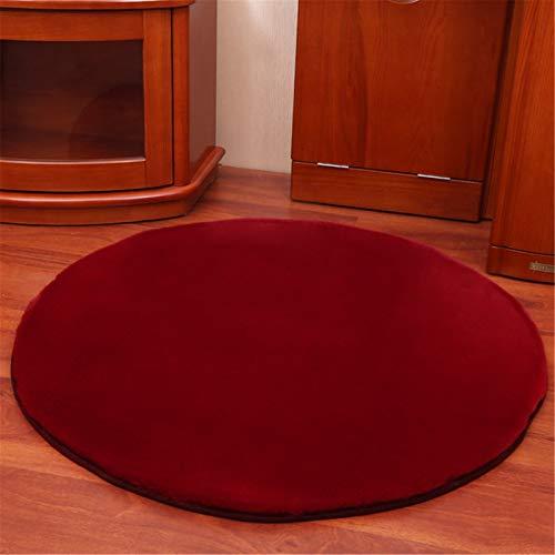 Nvshiyk Alfombra mullida Suave Área de Piel sintética Ultra Suave Lavable a máquina alfombras de peldaños para cenas de Dormitorio para la decoración del hogar (Color : Wine Red, Size : 80x80cm)