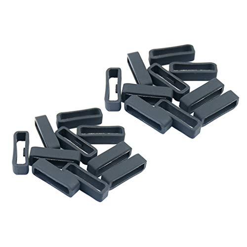 Generic Passant de Bracelet de Montre en Silicone pour Garmin Fenix 5S/ 5S Plus - Noir - 22 mm - 20 Pièces