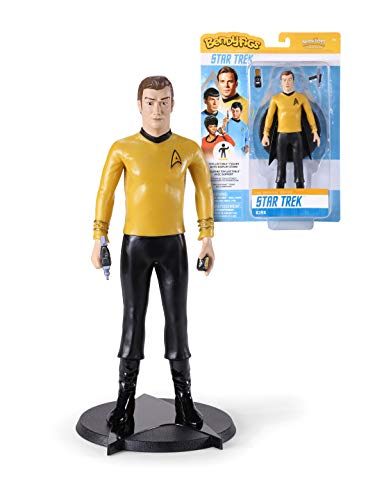 The Noble Collection Bendyfigs Kirk Figure Officially Licensed 19cm (7.5 inch) Star Trek Bendable Toys Posable Collectable Doll Figures With Stand - For Kids & Adults
